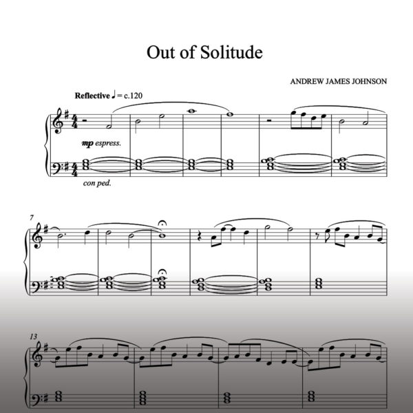 out of solitude notation