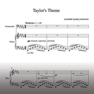 taylors theme notation