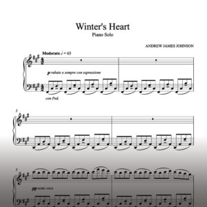 winters heart piano solo notation