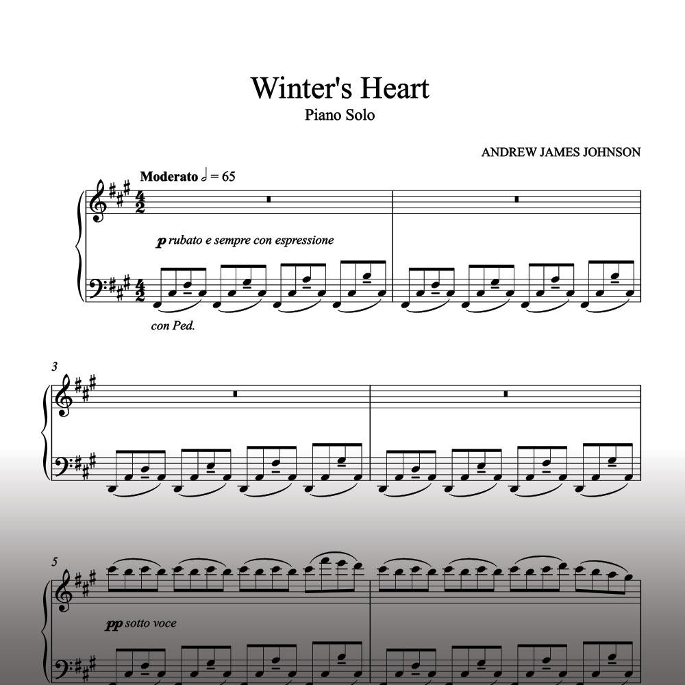Winter's Heart Piano Solo - Sheet Music