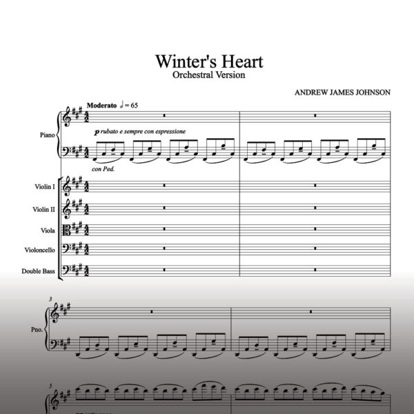 winters heart string orchestra notation